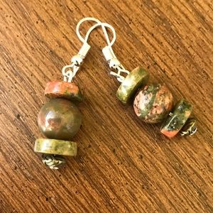Handmade Jasper earrings